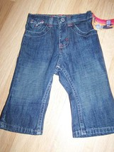 Infant Baby Girl's Size 12 Months Lee Riders Denim Blue Jeans New - $12.00