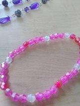 Elastic pink beaded bracelet. - $7.99