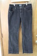 W9090 Womens Ralph Lauren Polo J EAN S Black Corduroy Stretch Boot Cut Pants 8x30 - $15.45