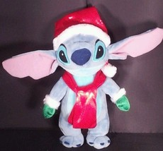 Disney Stitch Christmas Santa Hat Scarf Green Gloves Stuffed Plush 10 inch - $34.64