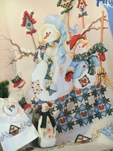 Snow Buddies Stoney Creek Cross Stitch Leaflet Snowmen Bird House Heart ... - $7.95