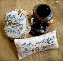 Seek Joy Stitch cross stitch chart Homespun Elegance - $6.00