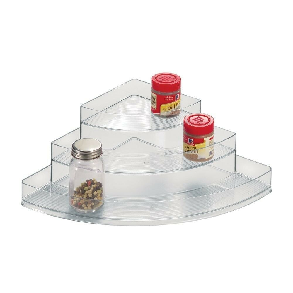 Primary image for Spice Vanity Rack Corner 3Tier Makeup Medicine Pantry Bathroom Organizer NEW