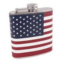 Flasks, 6ounce American Flag Pocket Flask Metal - Stainless Steel - €35,57 EUR
