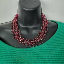 White House Black Market WHBM Fucshia Pink Choker Necklace Costume Jewel... - $16.85