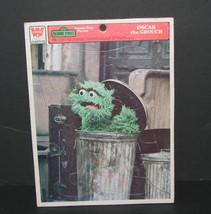 Vintage Whitman Sesame Street Oscar the Grouch Frame Tray Puzzle 1976 - $19.98