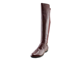 Isaac Mizrahi ~ Leather ~ Stretch ~ Over-the-Knee Boots ~ Size 7.5 ~ Burgundy - $91.20