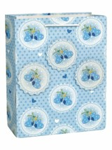 Baby Booties Blue Popout Shower Gift Bag LG Glitter Boy - $3.26
