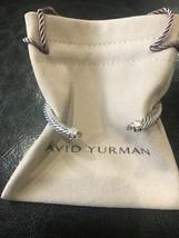David Yurman S/S 925 5mm Cable Morganite Diamonds Cuff Bracelet - $299.99