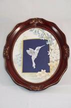 "Vintage Framed Matted Hummingbird Belgium Lace Wall Decor 9.5""x11.5"" - $38.26"