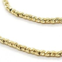 18K YELLOW GOLD BRACELET WITH FINELY WORKED SPHERES, 1.5 MM DIAMOND CUT BALLS image 3
