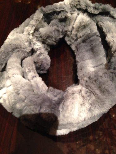 Primary image for Nemesis Antique Vintage Styled Gray Faux Fur  Infinity Scarf