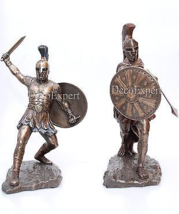 Hektor Trojan vs Achilles Spartan Two Sculptures * Air Shipping Everywhere - $197.01