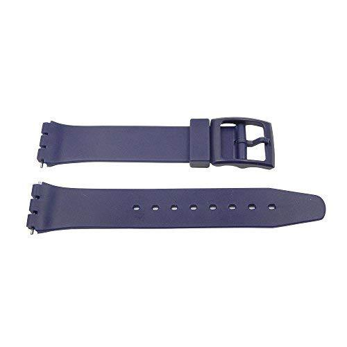Primary image for 17mm Blue PVC Swatch Style Replacement Watch Band