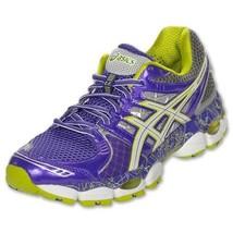 Women's Asics Gel-Nimbus 14 LE Running Shoes Purple/Lime/Charcoal US 6 - $109.97