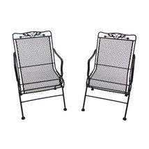 Two Rocking Patio Chairs 2 Pack Action Wrought Iron Dining Outdoor Lawn ... - $248.17
