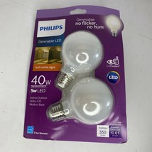 Phillips 40w Replacement 5w LED Globe G25 Dimmable Light Bulb 2-Pack - $14.72