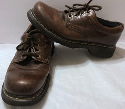 Dr. Martens Doc Martens Brown Leather Oxford Shoes Sz 10 US Oxfords DMs Casual - $40.58