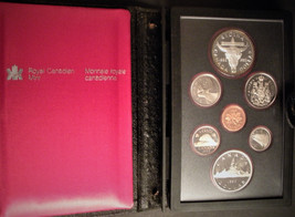 1982 Canada Double Dollar Coin Set - 7 Coins - incl Silver Dollar - RCM - $18.00