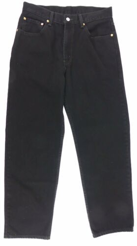 LEVI RED TAG Men's Black Straight Leg Fit Size 34 x 32 Zipper Fly Cotton EC image 5