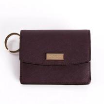 Kate Spade Laurel Way Petty in Mahogany Crosshatch Leather Wallet WLRU2728 NWT - $38.60