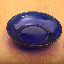 Shallow Cobalt Blue Glass Berry Bowls - $18.69