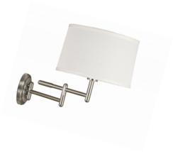 Kenroy Home 20942BS Theta Wall Swing Arm Lamp, Brushed Steel - $112.31