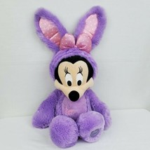 "Disney Store Minnie Mouse Easter Bunny Plush Purple Rabbit 19"" Stuffed Animal - $24.99"