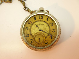 VINTAGE 1932 HAMILTON 17 JEWEL 974 POCKET WATCH FOR RESTORATION OF BALANCE  - $120.94