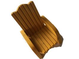 Wood Wooden porch  Adirondak Doll Bear Chair Yellow - $16.75