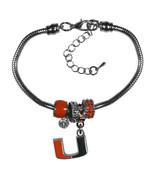 Miami Hurricanes Bracelet Euro Bead Style**Free Shipping** - $20.85