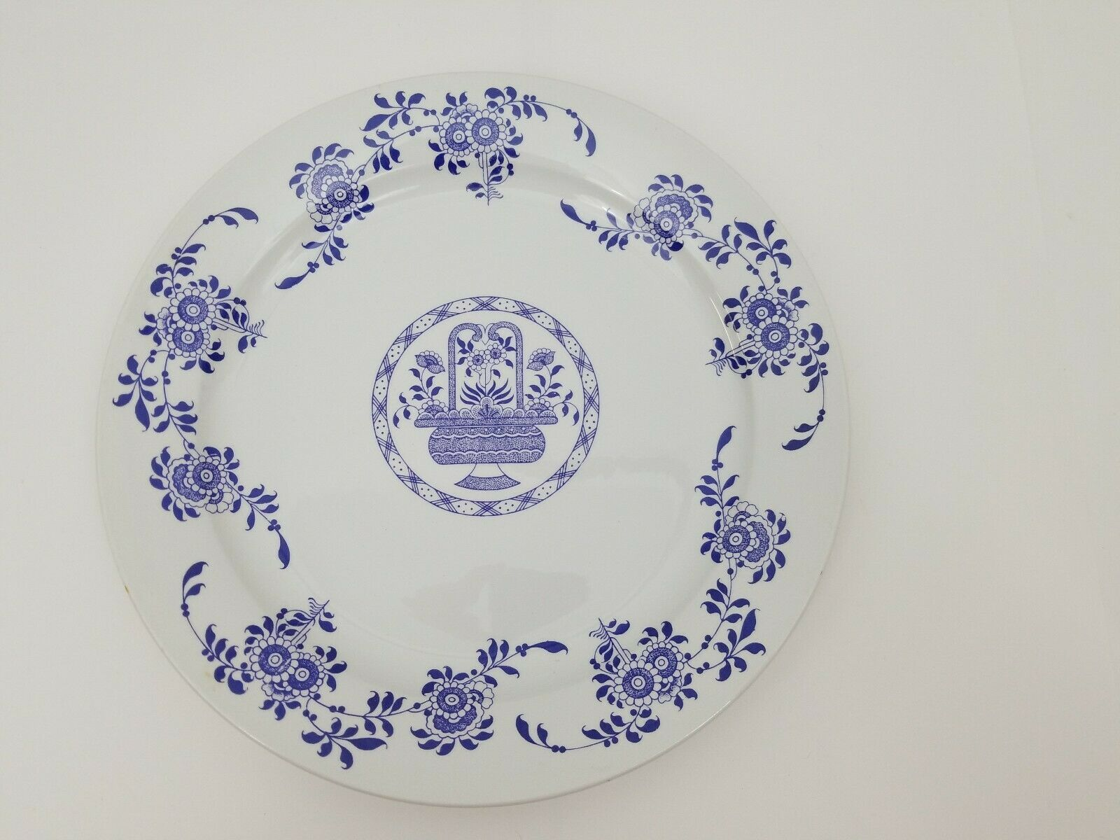 "Diamondstone Laveno White Chop Plate / Platter Ceramic Made in Italy 11.5"" image 6"