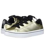 Skechers Hi Lite Metallic Gold Leather Black Trim Wide Laces Sneakers Wm... - $66.99