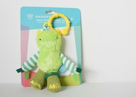 Baby Rattle & Travel Toy, Manhattan Toy Co. Green Monster, Crinkles & Sh... - $8.90
