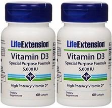 Life Extension Vitamin D3, 5,000 IU, 60 Softgel... - $15.84