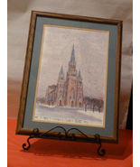 St Mary's Catholic Church Fort Wayne IN Framed Litho - $79.90