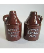 Vintage Little Brown Jug Whiskey Jug Ceramic Salt & Pepper Shakers -Japan - $7.50