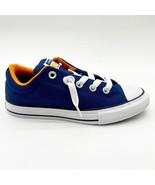 Converse CTAS Street Slip Navy Orange Rind White Kids Size 3 665135F - $44.95