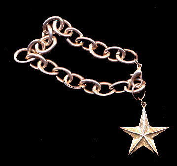 Primary image for Silverplate Ri! Signed Star Dangle Charm Bracelet