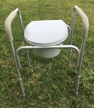 Handicap Accessible Toilet Porta Potty Chair Adjustable Legs Local Picku... - $24.95