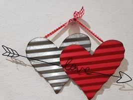 """Valentines Day LOVE Metal Hearts Hanging Sign Door Home Decor 19.75"""" - $18.99"""
