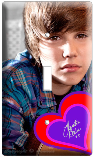 JUSTIN BIEBER SINGLE LIGHT SWITCH CD COVER WALL PLATE N