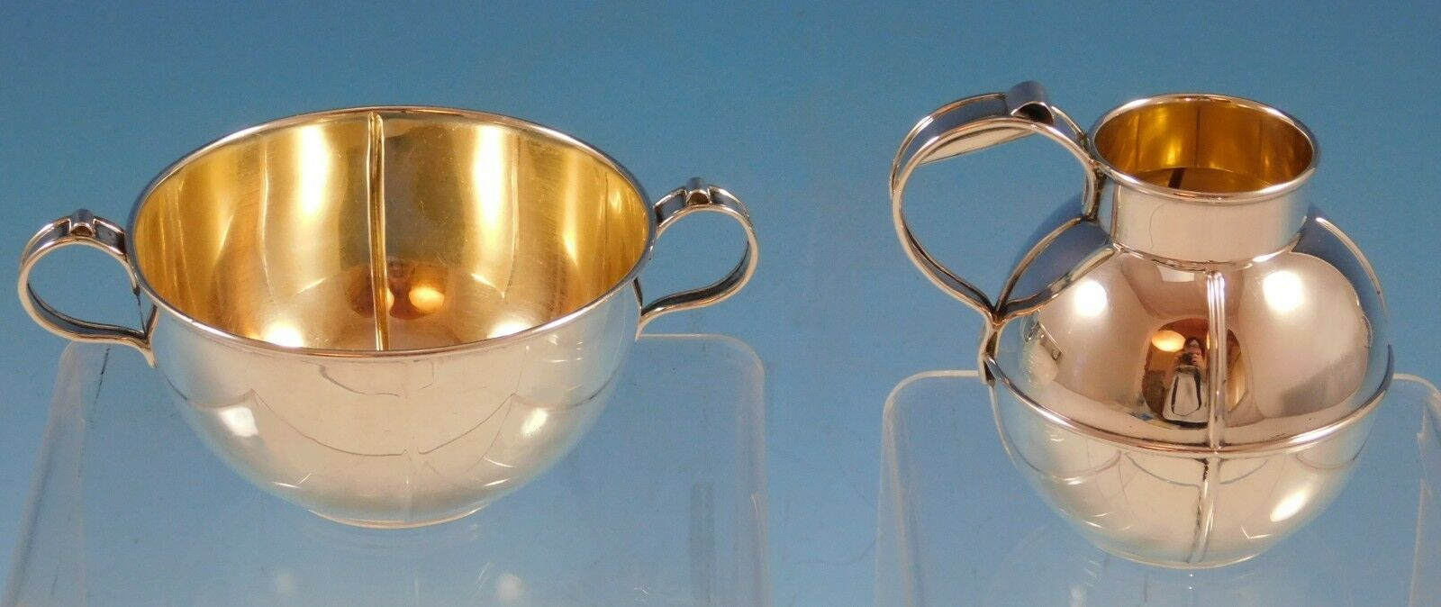 Old French Gorham Sterling Silver Creamer and Sugar Set 2pc #A7845 (#2286) - $260.10