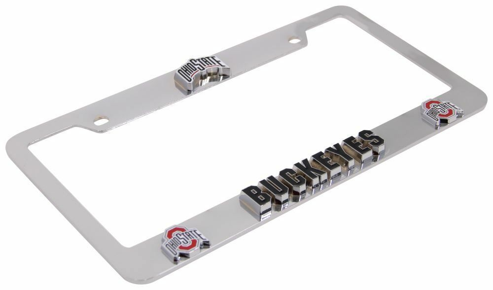 Penn State Nittany Lions Deluxe Raised 3D Metal Chrome License Plate Tag Frame