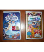 Cinderella and Snow White in VHS - Disney - Both NEW! - $24.00
