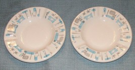 """Vtg Royal China-BLUE Heaven Ashtrays -Set Of 2 -5 1/2"""" Gray/Blue- With Tags Exc - $16.95"""