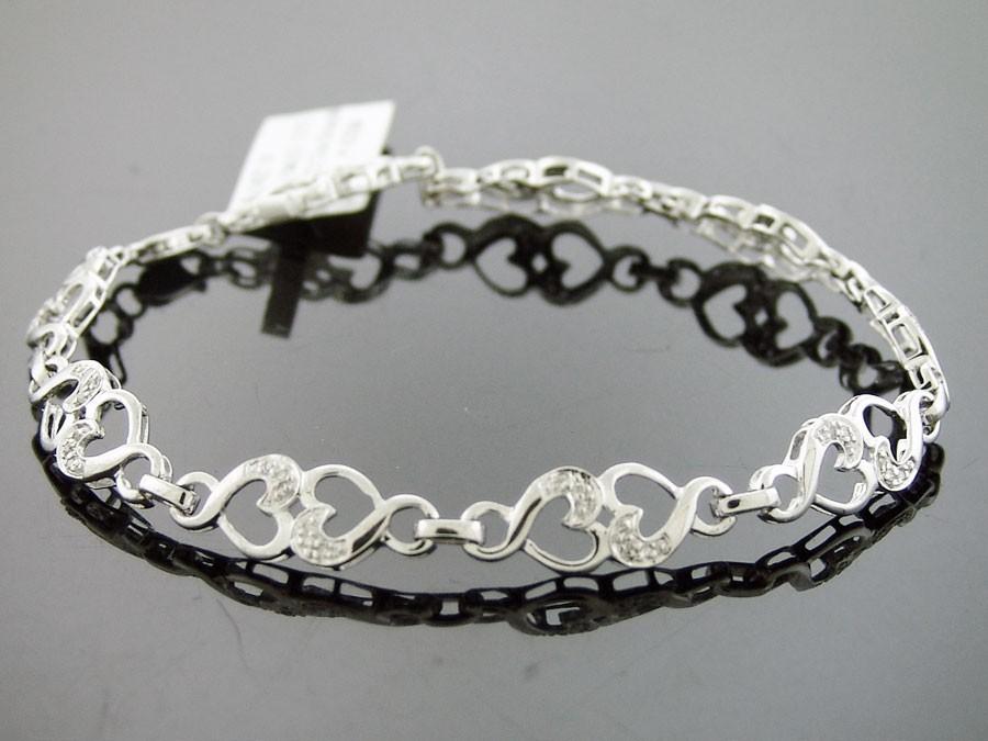 New Women S 925 Silver 0 35 Ct Genuine Diamond Bracelet 191 99