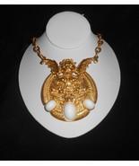 Necklace Gargoyle Griffin Runway Statement Jewelry 1980s Donald Stannard  - $90.25