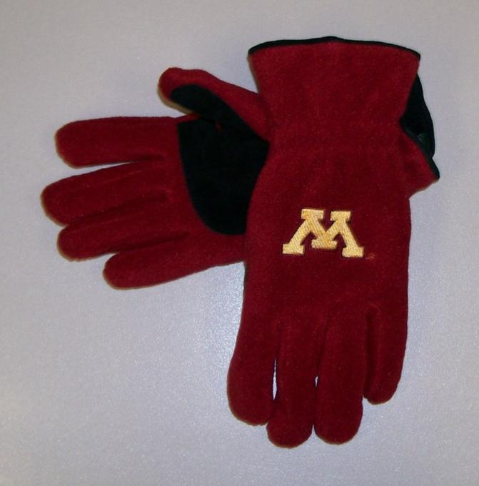Primary image for Minnesota Gophers Mens Lined Gloves size Med NWT