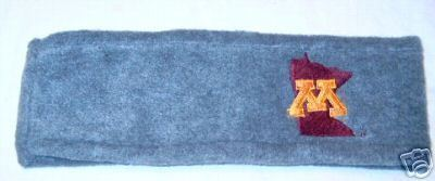Primary image for Minnesota Golden Gophers Grey Fleece Headband NWT
